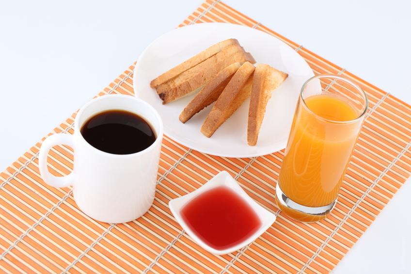 Típico desayuno de cafetería