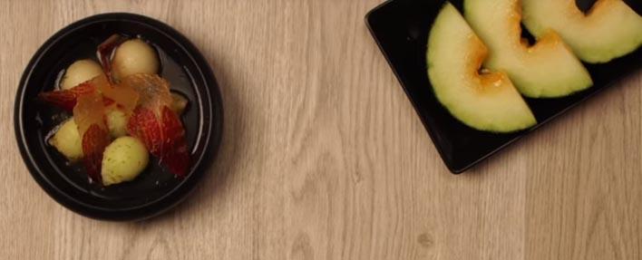 Receta | Melón con jamón, lima, miel y jengibre